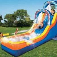 Banzai Double Drop Falls Inflatable Water Slide: Toys & Games