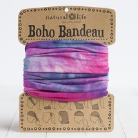Pink,  Blue  &  White  Tie-Dye  Boho  Bandeau  From  Natural  Life