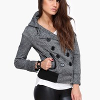 Wooly Short Double Breasted Jacket