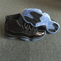 Air Jordan 11 Retro Black Gamma Basketball Shoe