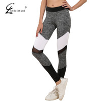 CHRLEISURE S-XL 5 Color Sexy Mesh Leggings Women Workout Plus Size Patchwork Leggins Casual Sporting Polyester Leggings