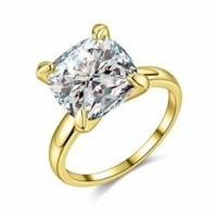 AAA Zircon Gold Wedding Ring