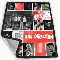 One Direction Collage Blanket for Kids Blanket, Fleece Blanket Cute and Awesome Blanket for your bedding, Blanket fleece *