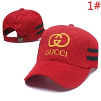 GUCCI New fashion embroidery letter more letter stripe couple sunscreen cap hat
