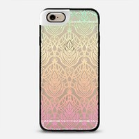 Tropical Ombre Art Deco Pattern on Transparent iPhone 6 case by Micklyn Le Feuvre | Casetify