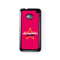 Celebrity Hater Black Hard Plastic Case for HTC One M7 by Chargrilled