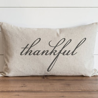 Thankful 16 x 26 Lumbar Pillow Cover