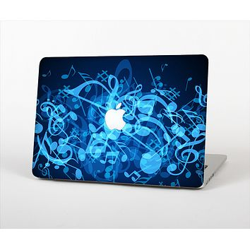 """The Glowing Blue Music Notes Skin Set for the Apple MacBook Pro 13"""""""