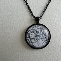 Doctor Who Watch Design Necklace
