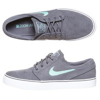 ZOOM STEFAN JANOSKI SHOES BY NIKE IN DARK GREY/MEDIUM MINT