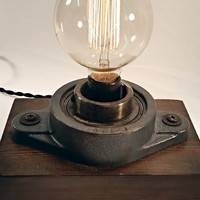 Industrial Cast Iron Lamp – Touch Sensor