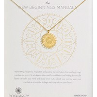 Dogeared The New Beginnings Mandala Pendant Necklace | Nordstrom
