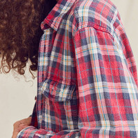 Urban Renewal Recycled Acid Wash Flannel Shirt | Urban Outfitters