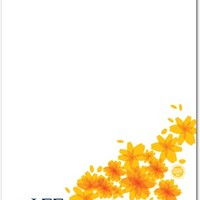 Flowery Note: Phi Sigma Sigma - Greek Notepads in Midnight | Phi Sigma Sigma