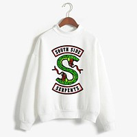 Fashion Riverdale Women Hoodies Sweatshirts Plus Size South Side Serpents Printed Hip Hop Streetwear Tops Unisex Pullover Shirt