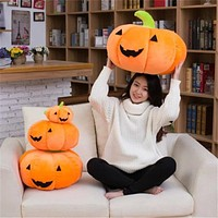 Jack O Lantern Plush Pillow