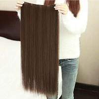 MAYSU Clip in Synthetic Straight Hair Extensions with 5 Clips PP18-2t30