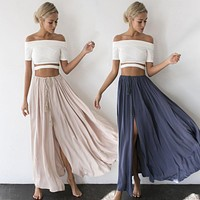. Lace Up Pleated