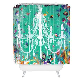 Kent Youngstrom Emerald Chandelier Shower Curtain