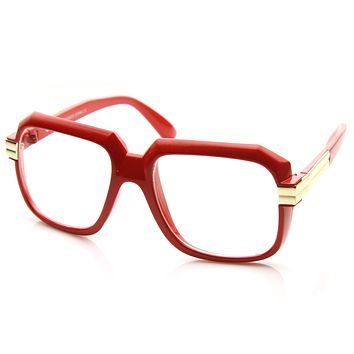 Party Retro Neon Color Square Clear Lens Glasses 8721
