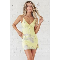 Steal The Spotlight Yellow Floral Dress