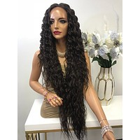 "Brown Deep Waves Hair Lace Front Wig 32"" Abigail 0119 5"