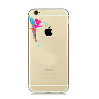 New Disney Tinkerbell  Watercolor Silicone Case for iPhone 7 7plus 6 6S plus 5 5SE