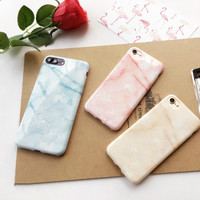 For iPhone 7 7puls blue white pink Marble Case For iPhone 6 6s plus 4.7inch 5.5inch Soft gel skin gel back cover phone cases -0324