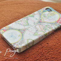 Apple iphone case for iphone iphone 4 iphone 4s iphone 3Gs : World map pattern case