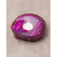 Agate Candle Holder - Rose