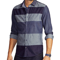 Guess Horizon Tonal Stripe Sport Shirt