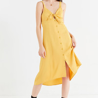 UO Tie-Front Button-Down Midi Dress | Urban Outfitters