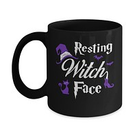 Halloween Resting Witch Face Witches Mug