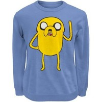 Adventure Time - Mens Jake Sweater Small Blue