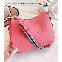 COACH Fashion New Leather Shopping Leisure Shoulder Bag Women Handbag Pink