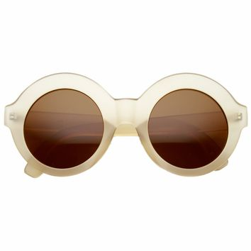 Women's Trendy Retro Bohemian Fashion Round Circle Sunglasses 9594