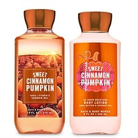 Bath & Body Works SWEET CINNAMON PUMPKIN Body Lotion & Shower Gel
