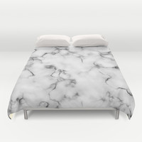 Marble Duvet Cover by Will Wild