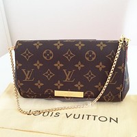 LV FAVORITE PM MM chain diagonal package F