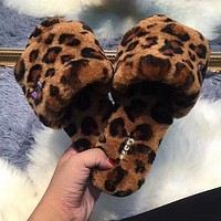 Ugg Female Leopard Slippers Shoes