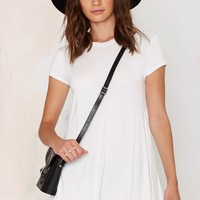 Nasty Gal Take the Shirt Cut Dress - Ivory