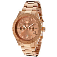 Invicta 1271 Men's Specialty Rose Gold Tone Ion Plated Stainless Steel Chronograph Watch