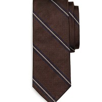 Own Make Framed Thin Stripe Tie - Brooks Brothers