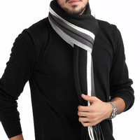 Men Winter Design Striped Fashion Scarf