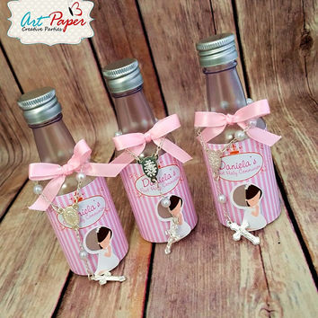 10 Mini bottle designed for Holy Water - Baptism, first communion,  Confirmation or Wedding Favors