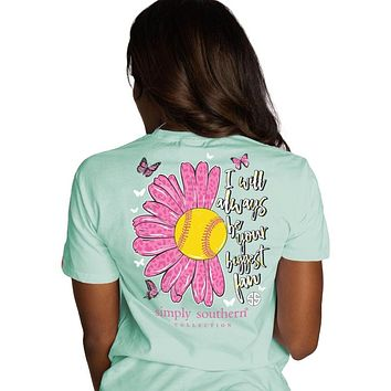Simply Southern Preppy Softball Mom T-Shirt