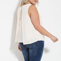 Plus Size Lace-Paneled Top | Forever 21 PLUS - 2000181370