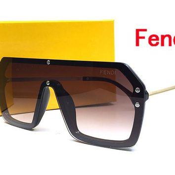 FENDI New Fashion Popular Sun Shades Driving Anti Glare Glasses Eyewear sun glass gun Metal Frame mens womens sunglasses