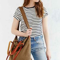 BDG Canvas Leather Tote Bag-