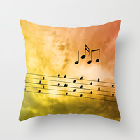 Autumn song Throw Pillow by Pirmin Nohr